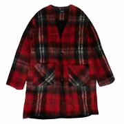Nwt Amiri Red Mohair Cardigan Sweater Size L 2200