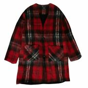 Nwt Amiri Red Mohair Cardigan Sweater Size S 2200