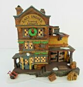Dept 56 Dickens Village East Indies Trading Co 58302 W/box And Light Cord