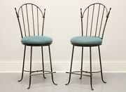 Charleston Forge Wrought Iron Shaker Arch Counter Height Swivel Stools - Pair B
