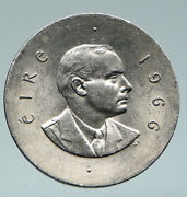 1966 Ireland Easter Rising W Pearse Irish Antique Silver 10 Shilling Coin I91470