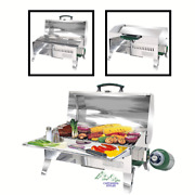Stainless Steel Portable Propane Gas Bbq Grill For Outdoor Camping And Rv Tabletop