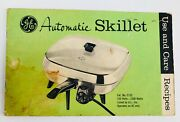 Ge Automatic Skillet Use And Care Recipes Mid Century Modern