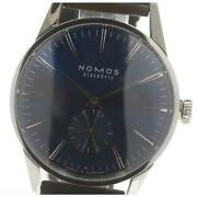 Nomos Zurich Small Second Zr1e3bl2 Automatic Menand039s Blue Dial From Japan [e0521]