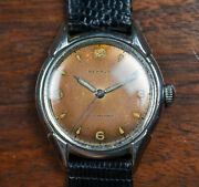 Vintage Benrus Manual Wind Tropical Brown Luminous Dial And Hands Watch