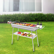 Charcoal Barbecue Grill Garden Portable Bbq Outdoor Camping Stainless Steel New