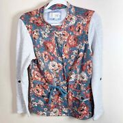 Anthropologie Saturday Sunday Womenand039s Delwyn Floral French Terry Jacket Size M