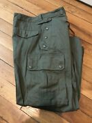 Vintage 1950s French Army Paratrooper Indochina Pant Size 11 Green