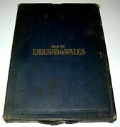 Map Of England And Wales - 2 Maps Inside Slipcase - G.w. Bacon And Co
