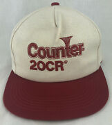 Vintage Counter 20cr Snapback Trucker Hat Cap K Products Usa Red Farm Seed