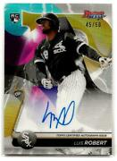 2020 Bowmanand039s Best Luis Robert Signed Rc White Sox Auto Gold Refractor 45/50 Sp