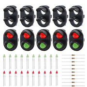 Evemodel 10 Sets Target Faces With Leds For Railway Signal N Or Z Scale 2 Jtd12