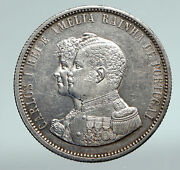 1898 Portugal King Carlos I Vintage Old Silver 1000 Reis Portuguese Coin I90984