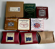 Lot Of 8 Longaberger Tie-on Basket Charms Fathers Day Old Glory Holidays New A5