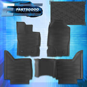 For 19-21 Ford Ranger Crew Cab Rubber All Weather Season Duty Floor Mats Liners