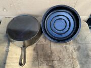 Vintage Favorite Piqua Ware Smiley Face 8 A Cast Iron Skillet With Lid