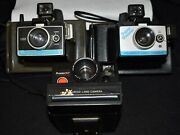 Lot Of 3 Vintage Polaroid Land Cameras Super Shooter Pronto Rf Colorpack Ii