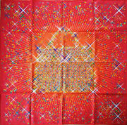 Hermes Scarf Stole Magic Kelly Hand Bag Purse Red Silk Woman Auth New 90 Cm Rare
