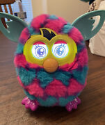 Furby Boom Electronic Interactive Toy 2012 Purple Pink Blue Hearts Works Great