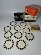 3-d View-master Model E In Box With 10 Reels