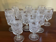 Anchor Hocking Wexford 12 Claret Wine Juice 5 Oz Goblets Clear Usa