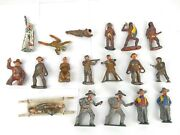 Barclay Manoil 18 Lead Metal Toy Army War Native Soldier Figure Lot Made In Usa