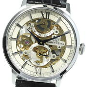 Orient Star Classic Skeleton Wz0041dx Manual Winding Menand039s Watch Pre Owned U0522