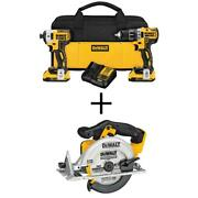 20-volt Max Xr Cordless Brushless Drill/impact Combo Kit 2-tool With 2 20-volt And