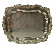 Poole Silver Company Epca 403 Footed Square Serving Tray Platter