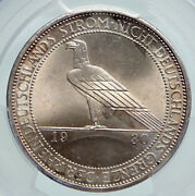 1930 F Weimar Germany Liberation Of Rhineland Silver 3 R-mark Coin Pcgs I91607
