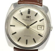 Schaffhausen Antique Date Automatic Ss Leather Silver Dial Menand039s Watch U0523