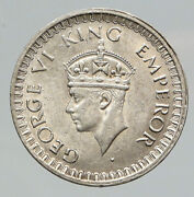 1942 B India States Uk George Vi Antique Old Silver 1/2 Rupee Indian Coin I91788