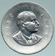1966 Ireland Easter Rising W Pearse Irish Antique Silver 10 Shilling Coin I91502