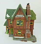 Dept 56 Dickens Village Browning Cottage 58246 Old Stock No Sleeve Box Poor