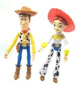 2 Disney Pixar Toy Story Jessie And Woody Doll 9 Poseable Jointed Dolls Figures