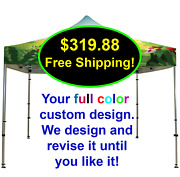 10x10 Custom Logo Printed Replacement Pop Up Canopy Sports Tournament Tent Cover