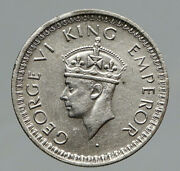 1944l India States Uk King George Vi Antique Silver 1/2 Rupee Indian Coin I91775