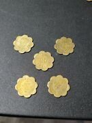 Vintage 5pc. Set New Freedom Pa Sports Center 25 Cent Tokens