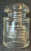 Vintage Corning Pyrex Clear Glass Insulator For Telephone Lines