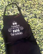 Funny Apron For Dad Chef Daddy Novelty Aprons For Men Delantal Para Papa Chef