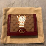 X Doraemon Fujiko-pro Ox Chinese New Year Card Case Coin Purse Wallet New