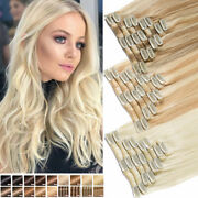 Clearance 100 Human Hair Seamless Clip In Remy Hair Extensions Full Head Blonde