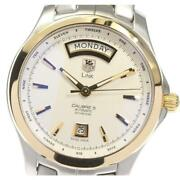 Tag Heuer Link Caliber 5 Day Date Wjf2050.bb0593 Automatic Menand039s Silver [e0524]
