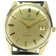 Schaffhausen K18yg Cal.8541b Automatic Leather Belt Menand039s Gold Dial [e0524]