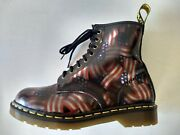 Doc Dr. Martens American Flags Leather Boots Made In England Vintage Rare 8uk