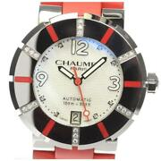 Chaumet Class One Coral Mm Limited Edition Diamond Bezel Auto Ladies [e0524]