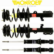 Monroe Front Rear Set Quick Struts Strut Assembly For 2003 -2008 Toyota Corolla