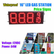 Rc Waterproof 12v 64w 16 Led Gas Station Electronic Fuel Price Sign 8888/9