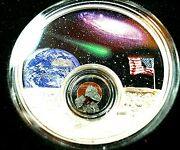 2019 Moon Landing Series 1 Oz .999 Silver Coin And Meteorite See Photoand039s Rare