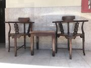 Chinese Rosewood Chair With Side Table